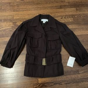 Zara- Brown Crop Sleeve Jacket- Sm. New with tags